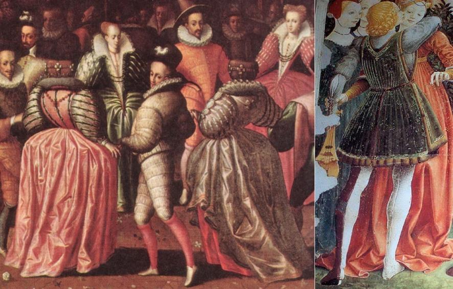 중세시대 스타킹을 입은 남자들의 모습ⓒwikimedia