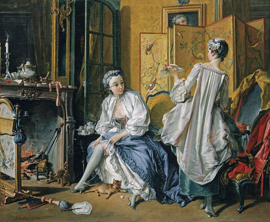 루이 15세 집권기이자 프랑스 로코코 미술의 전성기때 활동한 프랑수아 부셰-La toilette 의 그림 중 하나.