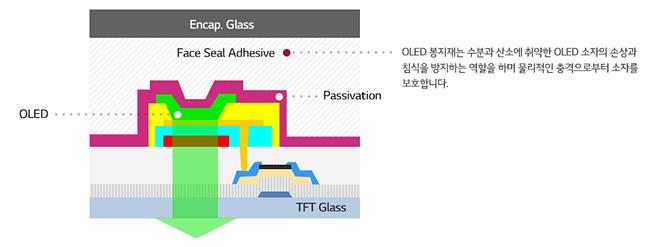 OLED 봉지재의 역할