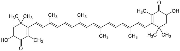 아스타잔틴의 화학 구조ⓒwikimedia.org