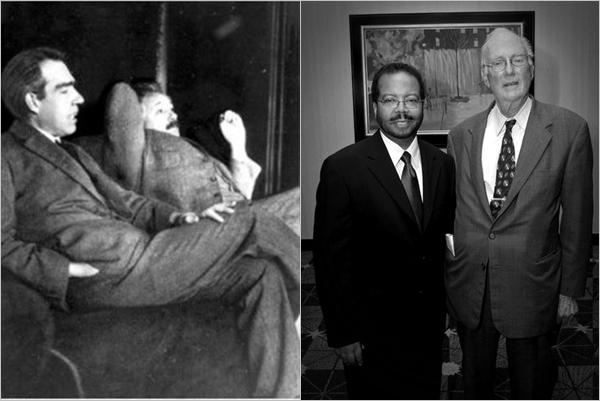 닐스 보어와 아인슈타인, 찰스 타운스의 모습