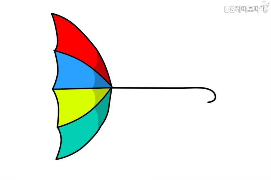 뒤집어진 우산 모습