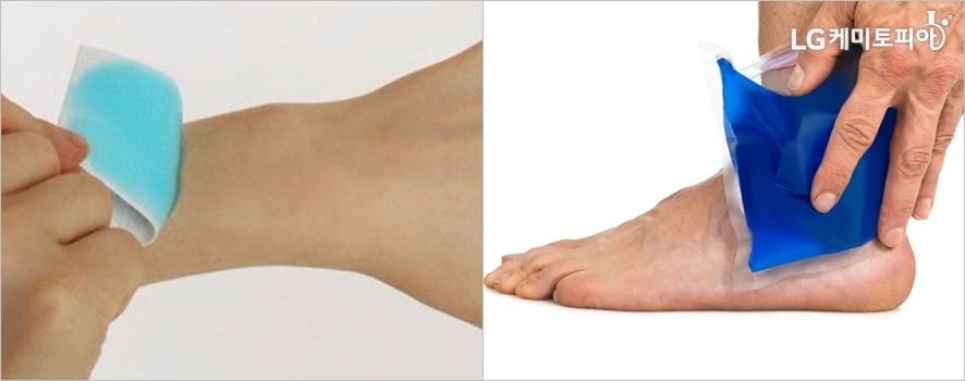 (왼쪽부터)접착식 쿨링 패치ⓒ잔트가르/ 네이버쇼핑, 몸의 열을 식히는 쿨링팩
