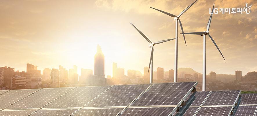 태양광 발전 장치와 풍력 발전 장치