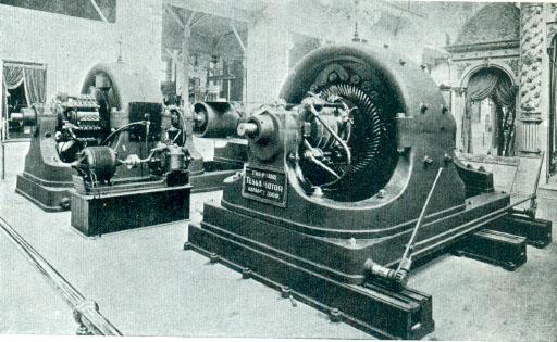 교류 방식을 주장한 테슬라의 발전기 원형 모델