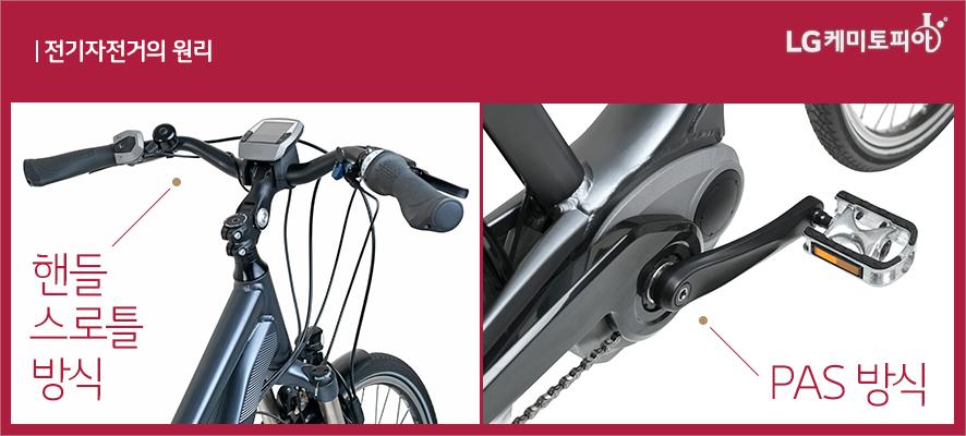 전기자전거의 원리-전기자전거 핸들 스로틀 방식과 PAS방식