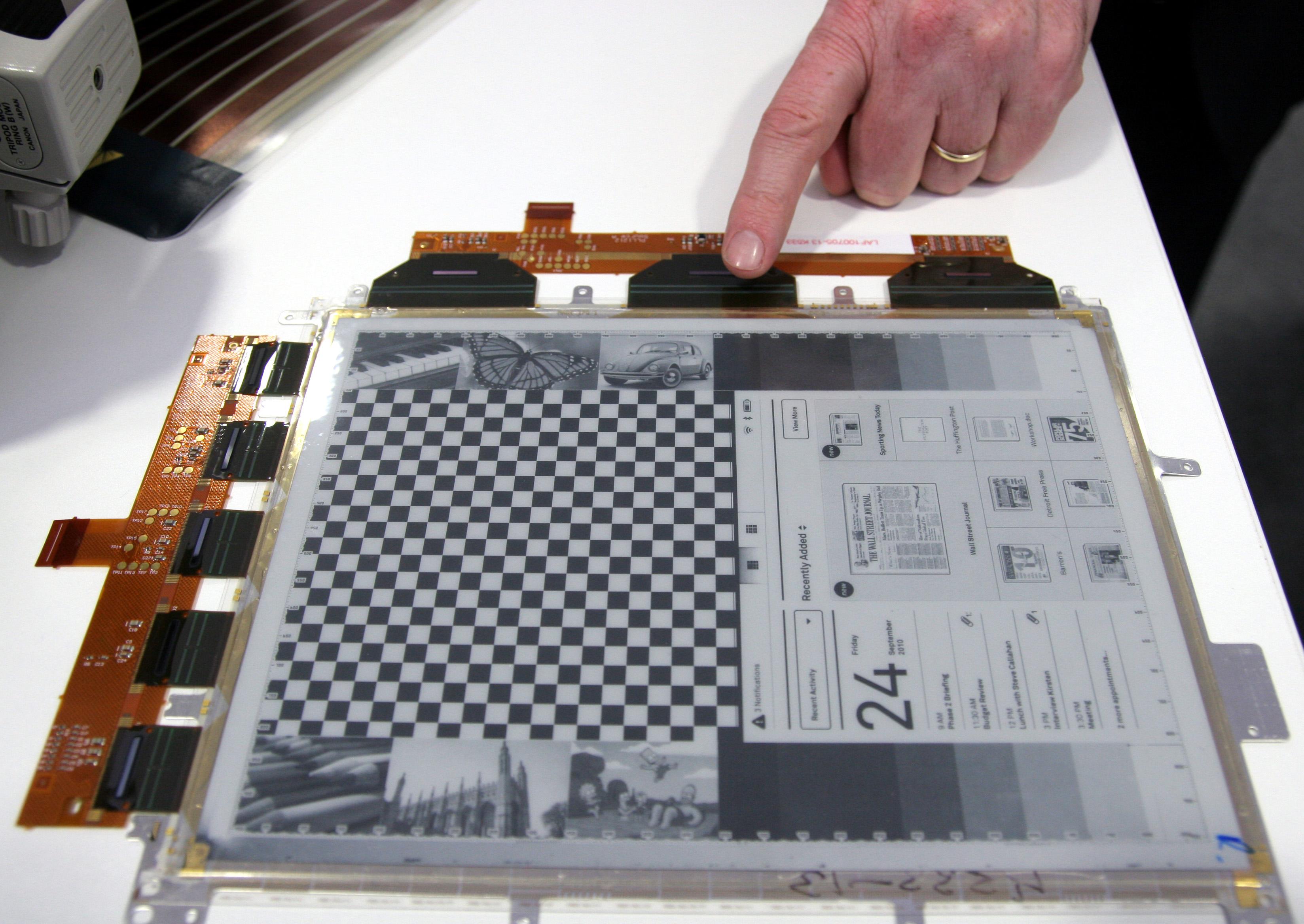 전자잉크(E-ink)를 이용한 전자종이(E-paper)