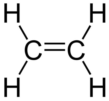 에틸렌 분자 구조도