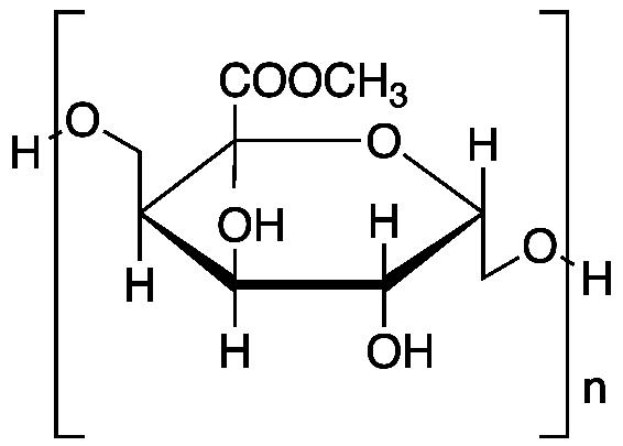 펙틴의 분자구조도