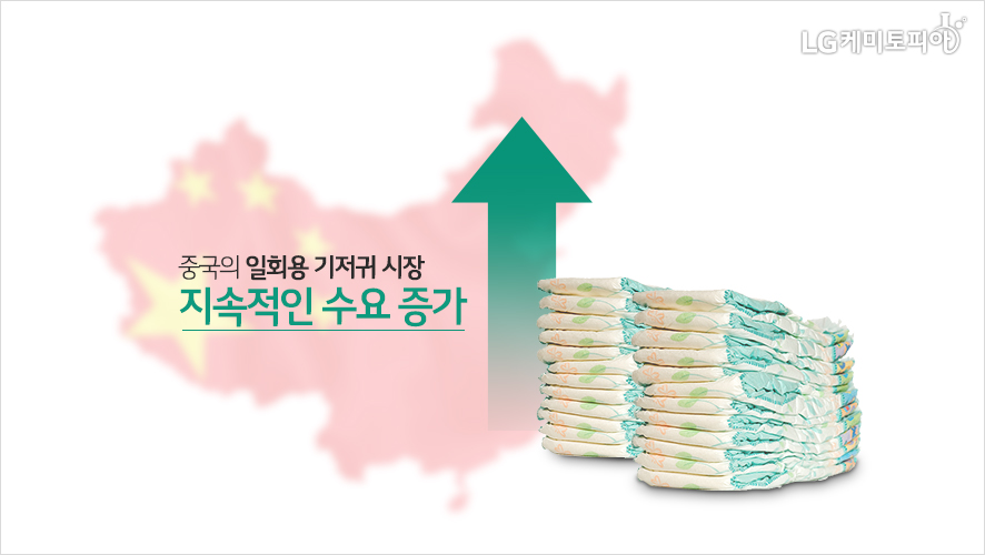 중국의 일회용 기저귀 시장 지속적인 수요 증가