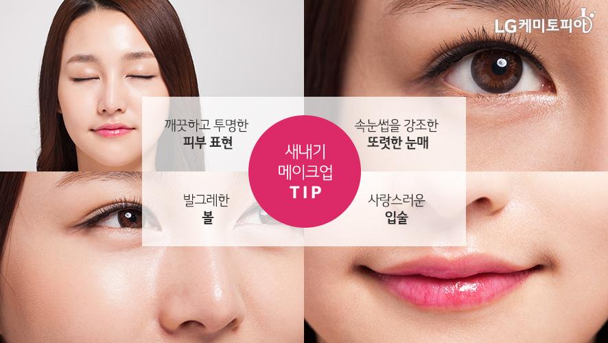 새내기 메이크업 TIP(피부 표현, 또렷한 눈매, 볼, 입술)