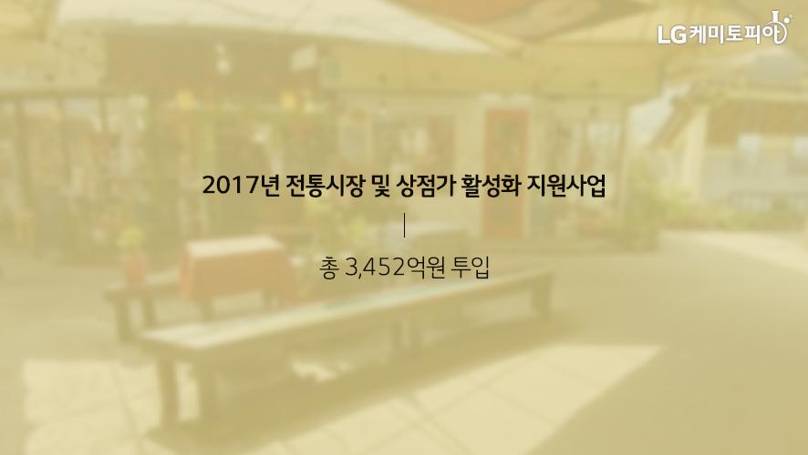 2017년 전통시장 및 상점가 활성화 지원사업 총 3,452억원 투입