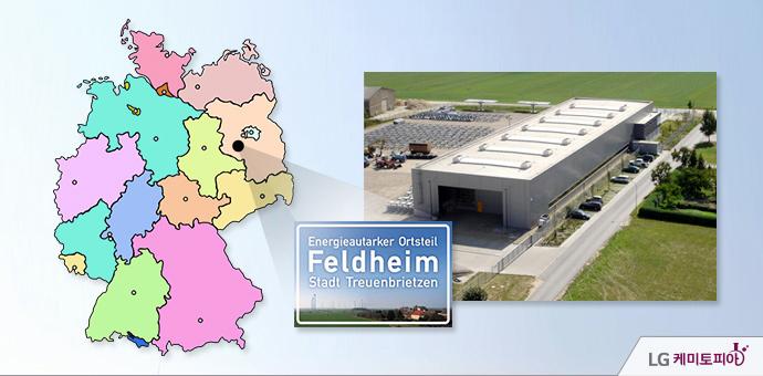 펠트하임(Feldheim) 마을의 전경,