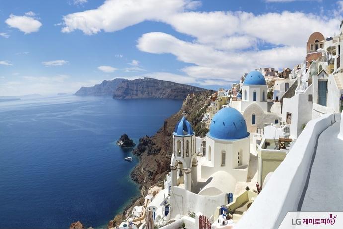 지중해와 그리스 풍경