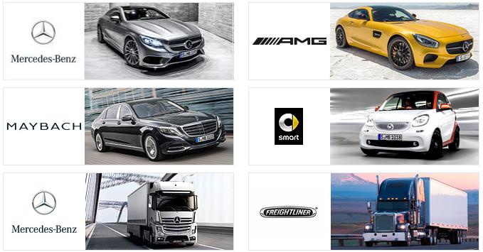 다임러 그룹의 주요 브랜드 (c)Daimler AG(www.daimler.com)