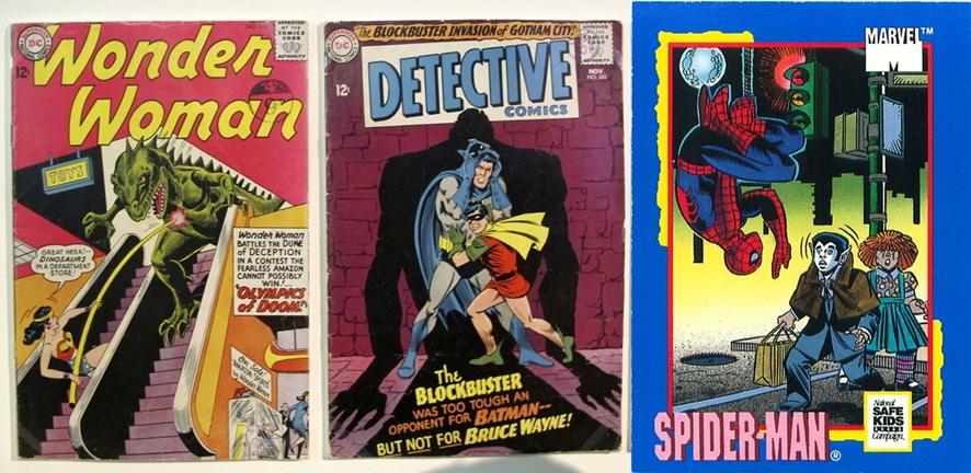 (왼쪽부터)초기 DC와 마블 코믹스의 만화책ⓒJeremy Tarling, Mark Anderson/ flickr.com