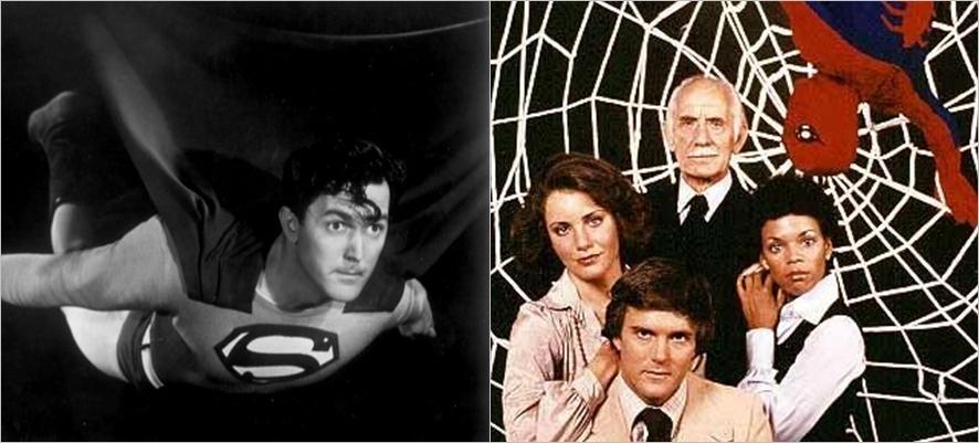 오랫동안 TV와 극장에서 인기를 끈 슈퍼히어로 <슈퍼맨, 1948>과 <스파이더맨, 1978>ⓒ네이버영화