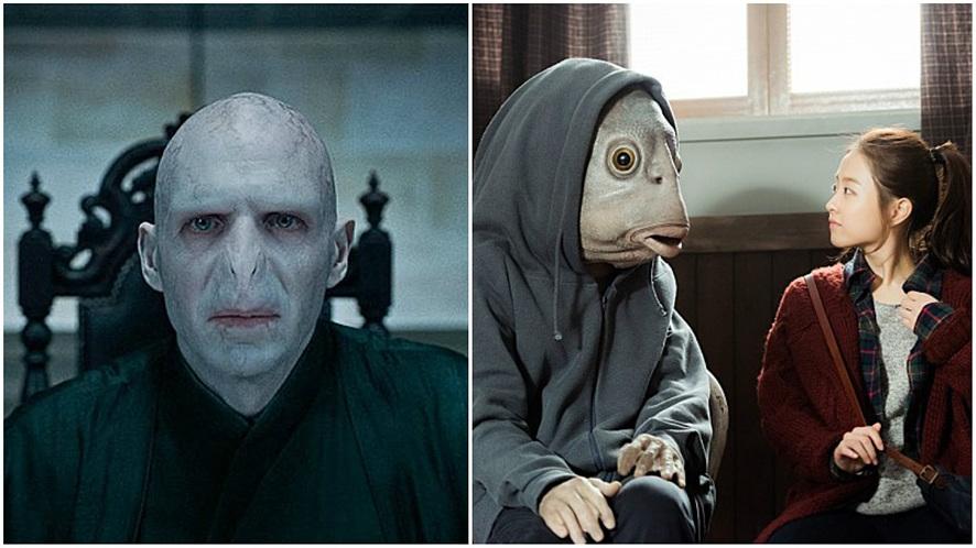 (왼쪽)영화 '해리포터' 중 볼드모트, (오른쪽)영화 '돌연변이' 중 한 장면ⓒ네이버 영화