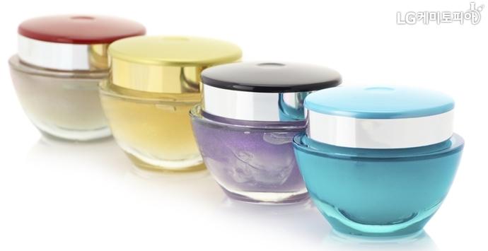 SAN 소재의 투명한 화장품 크림 용기