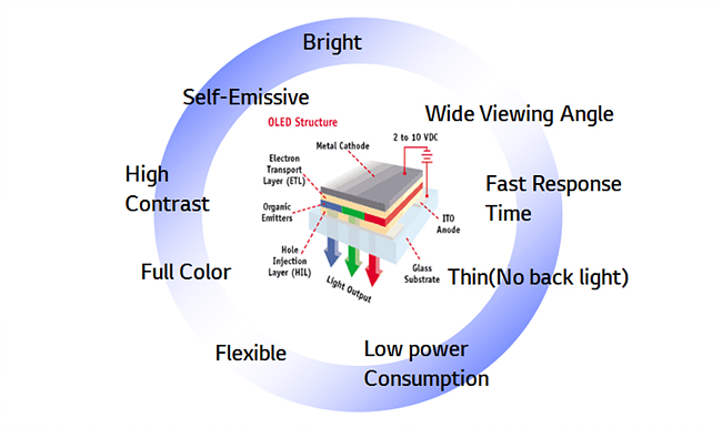 OLED의 다양한 특징