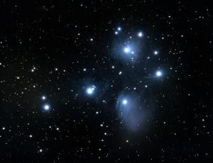밤 하늘에 반짝이는 별들