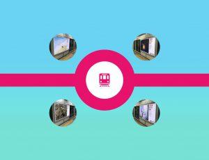 지하철 역사 내 LG화학 광고