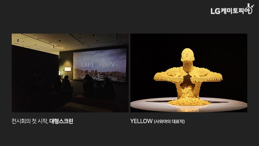 전시회의 첫 시작, 대형스크린 / Yellow (사와야의 대표작)