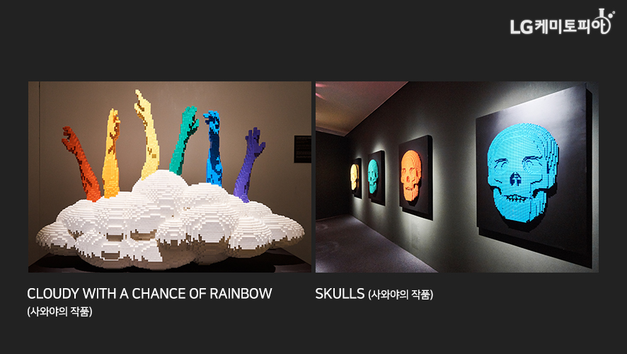 CLOUDY WITH A CHANCE OF RAINBOW (사와야의 작품) / SKULLS (사와야의 작품)