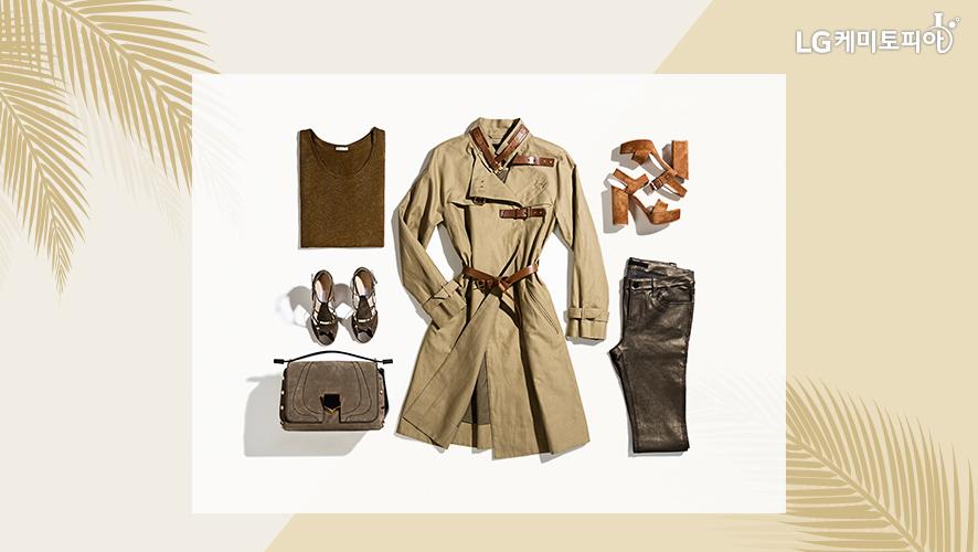 트렌치 코트와 코디할 수 있는 패션 아이템 모음