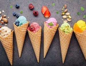먹음직스러운 아이스크림 사진