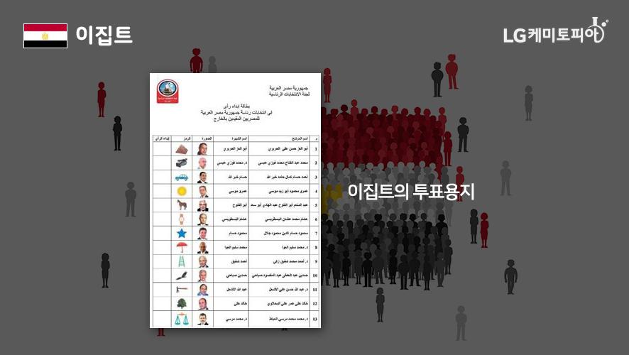 이집트의 투표용지