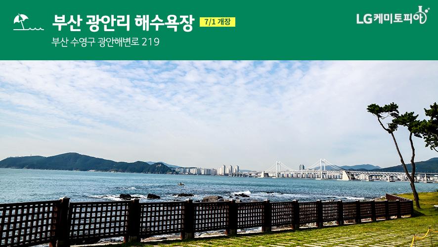 부산 광안리 해수욕장 (7/1 개장) 부산 수영구 광안해변로 219